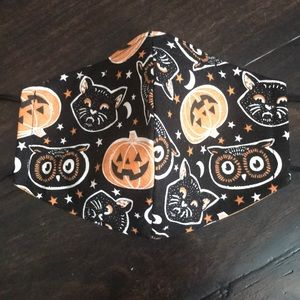 Vintage Halloween Fabric Face Mask
